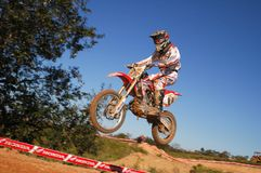 Motocross racer in state finals Royalty Free Stock Photo