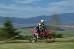 Motocross racer Royalty Free Stock Images