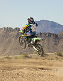 A Motocross Racer Practices at SARA Park Royalty Free Stock Image