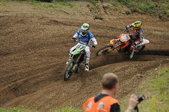 Motocross racers Stock Photography