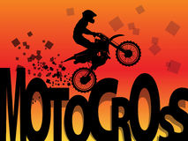Motocross racing background. Color illustration Royalty Free Stock Photos