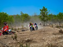 motocross racing wallpaper Royalty Free Stock Photography
