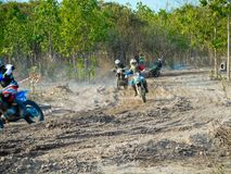 motocross racing wallpaper Royalty Free Stock Image