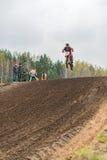 Motocross, Ramenskoe, Russia. Stock Photos