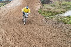 Motocross, Ramenskoe, Russia. Stock Photography