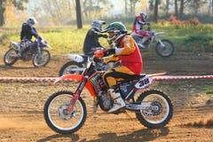 Motocross-Rennen Stockfoto
