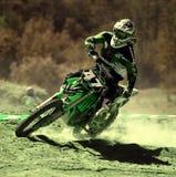 Motocross-Rennläufer. Stockfoto