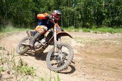 Motocross rider. Man on motocross enjoying ride Stock Photography