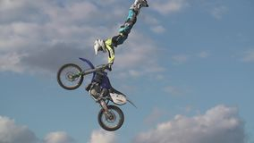 Motocross Rider in the Air stock video