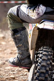 Motocross rider detail Royalty Free Stock Images