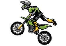 Motocross rider doing stunt. Vector of motocross rider doing stunt Stock Image