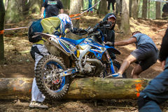 Motocross rider at the Drapak Rodeo Race Stock Images