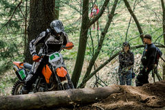 Motocross rider at the Drapak Rodeo Race Royalty Free Stock Photography