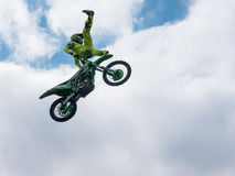 Motocross rider Heel Clicker jump Stock Photos