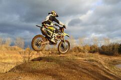 Motocross Rider on His Dirt Bike during Daytime Stock Photo