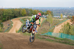 Motocross rider Stock Photography