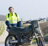 Motocross rider portrait Royalty Free Stock Image