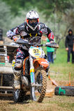 Motocross rider on the race Stock Photography