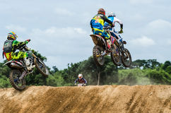 Motocross riders Royalty Free Stock Image