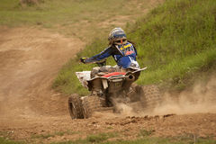Motocross riders in the jump Stock Image