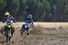 Motocross riders in national race Royalty Free Stock Photo