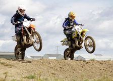 Motocross Riders. Stock Photos