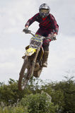 Motocross Riders. Motocross riders practice at track at Cambois, Northumberland Stock Images