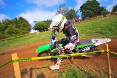 Motocross in Sariego, Asturias, Spain. Stock Photo