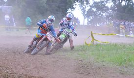 Motocross in Sariego, Asturias, Spain. Stock Images