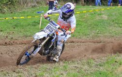 Motocross in Sariego, Asturias, Spain. Royalty Free Stock Photos