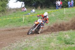 Motocross in Sariego, Asturias, Spain. Royalty Free Stock Photography