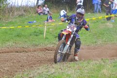 Motocross in Sariego, Asturias, Spain. Royalty Free Stock Image