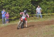 Motocross in Sariego, Asturias, Spain. Royalty Free Stock Photo