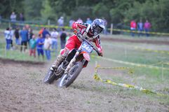 Motocross in Sariego, Asturias, Spain. Royalty Free Stock Photography