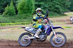 Motocross in Sariego, Spain. Royalty Free Stock Images