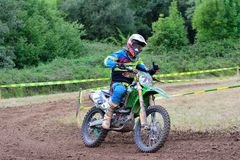 Motocross in Sariego, Spain. Royalty Free Stock Photos