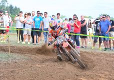 Motocross in Sariego, Spain. Stock Images