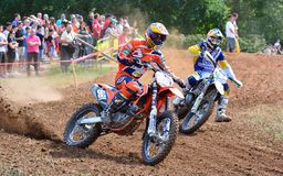 Motocross in Sariego, Spain. Royalty Free Stock Photo