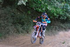 Motocross in Sariego, Spain. Royalty Free Stock Photography