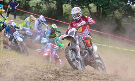 Motocross in Sariego, Spain. Royalty Free Stock Image