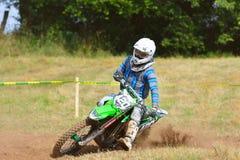 Motocross in Sariego, Spain. Royalty Free Stock Photos
