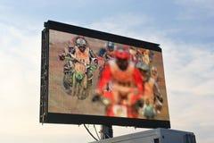 Motocross on Screen Stock Photos