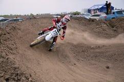 Motocross setkarz target937_0_ z wielkim skłonem Obraz Royalty Free