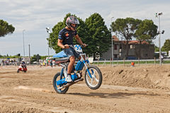 Motocross with Si Piaggio moped Royalty Free Stock Photos