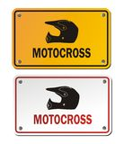 Motocross signs Royalty Free Stock Image