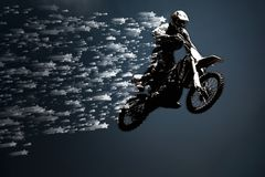 Motocross silhouette Royalty Free Stock Photography