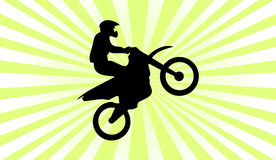 Motocross silhouette background Royalty Free Stock Image