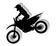 Motocross silhouette illustration Stock Photography