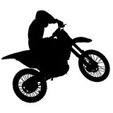 Motocross - silhouette Stock Photo