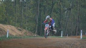 Motocross skoku zwolnione tempo zbiory